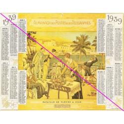 Calendrier de naissance plastifié année 1939 Idée cadeau original anniversaire fête noël neuf