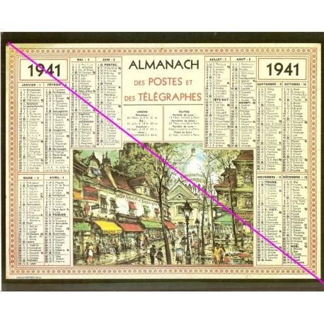 Calendrier de naissance plastifié année 1941 Idée cadeau original anniversaire fête noël neuf
