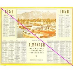 Calendrier de naissance plastifié année 1958 v01 Idée cadeau original anniversaire fête noël neuf