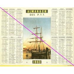 Calendrier de naissance plastifié année 1963 Idée cadeau original anniversaire fête noël neuf