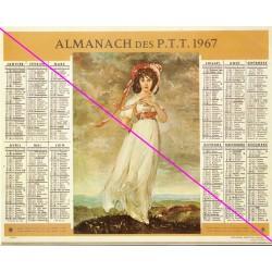 Calendrier de naissance plastifié année 1967 Idée cadeau original anniversaire fête noël neuf