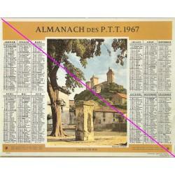 Calendrier de naissance plastifié année 1967 v02 Idée cadeau original anniversaire fête noël neuf