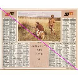 Calendrier de naissance plastifié année 1968 Idée cadeau original anniversaire fête noël neuf
