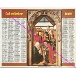 Calendrier de naissance plastifié année 1969 Idée cadeau original anniversaire fête noël neuf