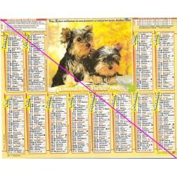Calendrier de naissance plastifié année 1990 Idée cadeau original anniversaire fête noël neuf