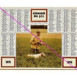 Calendrier de naissance plastifié année 1974 chasseur Ideé cadeau original anniversaire fête noël neuf