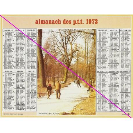 Calendrier de naissance plastifié année 1973 Idée cadeau original anniversaire fête noël neuf