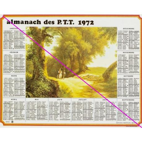 Calendrier de naissance plastifié année 1972 Idée cadeau original anniversaire fête noël neuf
