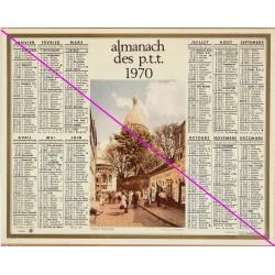 Calendrier de naissance plastifié année 1970 Idée cadeau original anniversaire fête noël neuf