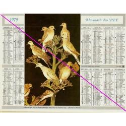 Calendrier de naissance plastifié année 1975 Idée cadeau original anniversaire fête noël neuf