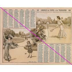 Calendrier de naissance plastifié année 1913 Idée cadeau original anniversaire fête noël neuf