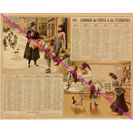 Calendrier de naissance plastifié année 1911 Idée cadeau original anniversaire fête noël neuf