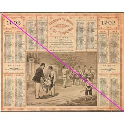 Calendrier de naissance plastifié année 1902 Idée cadeau original anniversaire fête noël neuf