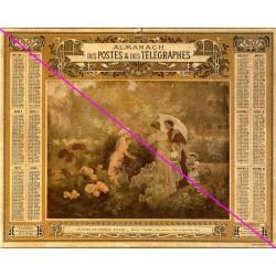 Calendrier de naissance plastifié année 1901 Idée cadeau original anniversaire fête noël neuf