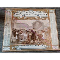Calendrier de naissance plastifié année 1900 Idée cadeau original anniversaire fête noël neuf