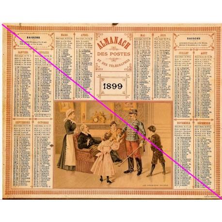 Calendrier de naissance plastifié année 1899 Idée cadeau original anniversaire fête noël neuf