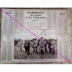 Calendrier de naissance plastifié année 1917 v02 Idée cadeau original anniversaire fête noël neuf