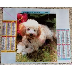Calendrier de naissance plastifié année 1992 Idée cadeau original anniversaire fête noël neuf