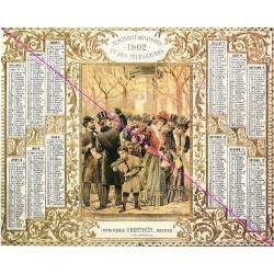 Calendrier de naissance plastifié année 1902 v02 Idée cadeau original anniversaire fête noël neuf