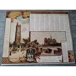 Calendrier de naissance plastifié année 1903 v02 Idée cadeau original anniversaire fête noel neuf