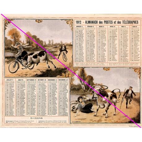 Calendrier de naissance plastifié année 1912 v02 Idée cadeau original anniversaire fête noël neuf