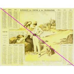 Calendrier de naissance plastifié année 1914 v02 Idée cadeau original anniversaire fête noël neuf