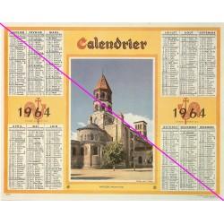 Calendrier de naissance plastifié année 1964 Idée cadeau original anniversaire fête noël neuf