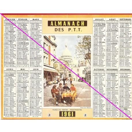 Calendrier de naissance plastifié année 1961 Idée cadeau original anniversaire fête noël neuf