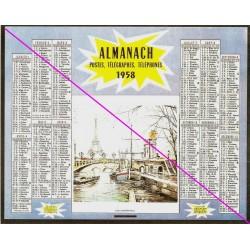 Calendrier de naissance plastifié année 1958 v02 Idée cadeau original anniversaire fête noël neuf