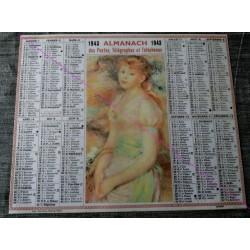 Calendrier de naissance plastifié année 1943 Idée cadeau original anniversaire fête noël neuf
