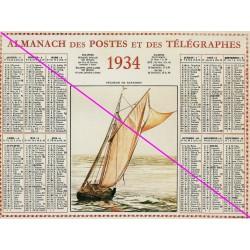 Calendrier de naissance plastifié année 1934 v02 Ideé cadeau original anniversaire fête noël neuf