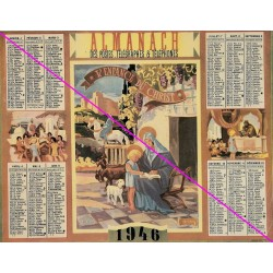 Calendrier de naissance plastifié année 1946 v02 Ideé cadeau original anniversaire fête noël neuf