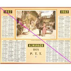 Calendrier de naissance plastifié année 1962 Ideé cadeau original anniversaire fête noël neuf