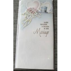 Carte postale double neuve avec enveloppe félicitations MARIAGE neuve