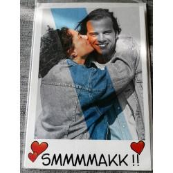 Carte postale double avec enveloppe anniversaires diverses SMMMMAKK neuve