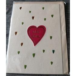 Carte postale double avec enveloppe fête diverses anniversaire st valentin etc... neuve