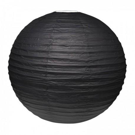 Grande Boule chinoise lampion noire 50 cm déco salle mariage anniversaire baptême retraite neuve