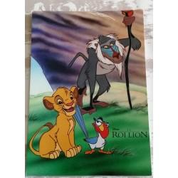 Cartes postale sans enveloppe Disney le roi lion v01 enfant fête anniversaire neuve