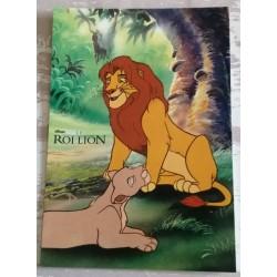 Cartes postale sans enveloppe Disney le roi lion v02 enfant fête anniversaire neuve