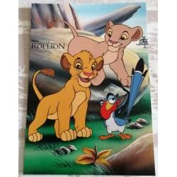 Cartes postale sans enveloppe Disney le roi lion v04 enfant fête anniversaire neuve