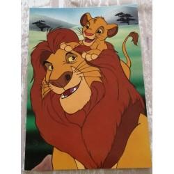Cartes postale sans enveloppe Disney le roi lion v06 enfant fête anniversaire neuve