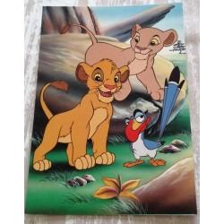 Cartes postale sans enveloppe Disney le roi lion v07 enfant fête anniversaire neuve