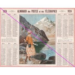 Calendrier de naissance plastifié année 1924 V02 Ideé cadeau original anniversaire fête noël neuf