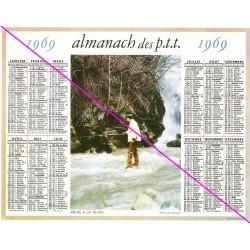 Calendrier de naissance plastifié année 1969 v02 Idée cadeau original anniversaire fête noël neuf