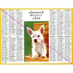 Calendrier de naissance plastifié année 1969 v03 Idée cadeau original anniversaire fête noël neuf