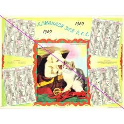 Calendrier de naissance plastifié année 1969 v04 Idée cadeau original anniversaire fête noël neuf