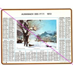 Calendrier de naissance plastifié année 1972 v03 Idée cadeau original anniversaire fête noël neuf