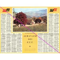 Calendrier de naissance plastifié année 1965 v03 Idée cadeau original anniversaire fête noël neuf