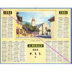 Calendrier de naissance plastifié année 1964 v02 Idée cadeau original anniversaire fête noël neuf