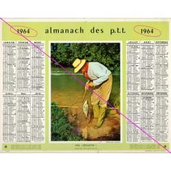 Calendrier de naissance plastifié année 1964 v03 pêcheur Idée cadeau original anniversaire fête noël neuf